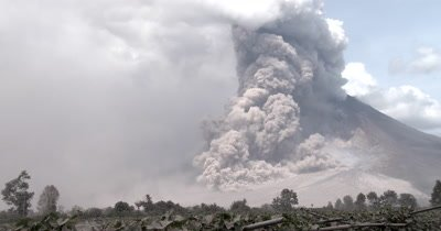 Amazing Pyroclastic Flow During Volcanic Eruption