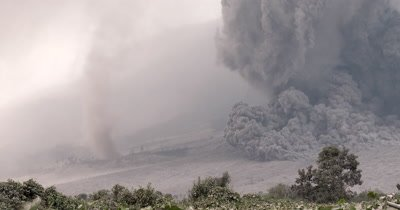 Amazing Pyroclastic Flow Volcanic Eruption Tornado Dust Devil