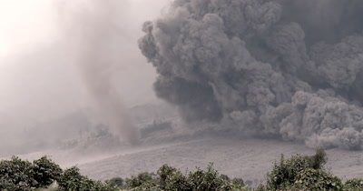Amazing Pyroclastic Flow Volcanic Eruption Tornado Dust Devil
