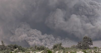 Massive Volcanic Eruption Ash Cloud Pyroclastic Flow
