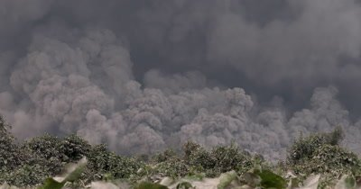 Massive Volcanic Eruption Ash Cloud Pyroclastic Flow