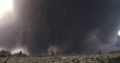 Massive Volcanic Eruption Ash Cloud