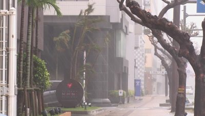 Window Smashes In Violent Hurricane Winds