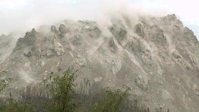 Earthquake Shakes Volcano Lava Dome Rare Footage