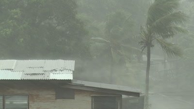 Tropical Storm Lashes Pacific Island