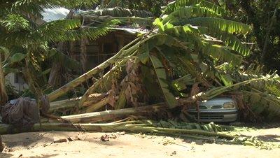 Hurricane Storm Surge Destruction And Aftermath