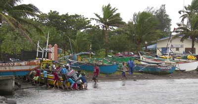 Fishermen Secure Boats As Hurricane Approaches