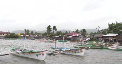 Fishing Boats Shelter In Harbor As Hurricane Nears