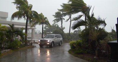Hurricane Wind And Rain Lashes Resort
