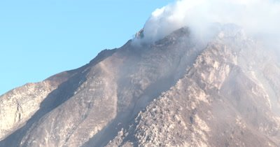 Unstable Lava Dome At Sinabung Volcano Close Up