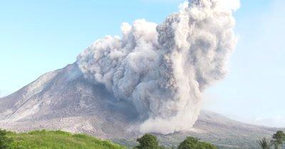 Major Volcanic Eruption Spews Large Ash Cloud Into Sky