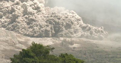 Deadly Pyroclastic Flow Destroys Farmland During Major Volcanic Eruption