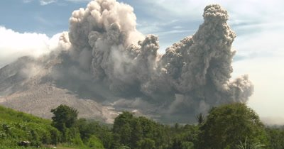 Huge Volcanic Eruption And Pyroclastic Flow