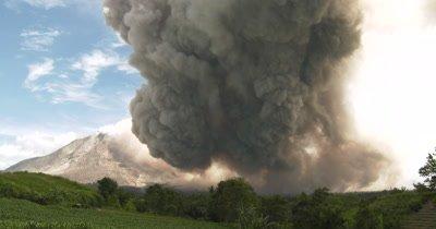 Volcanic Ash Cloud Drifts Across Sky Like UFO After Major Eruption