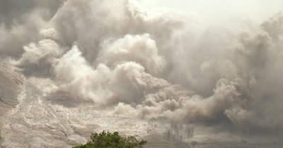 Volcanic Ash Erupts From Sinabung Volcano During Major Eruption