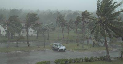 Hurricane Makes Landfall Violent Wind Heavy Rain