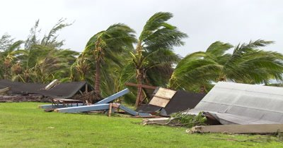 Hurricane Aftermath Wind Damage To Buildings