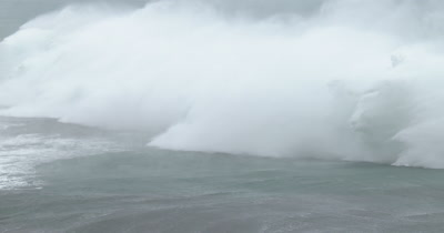 Monster Hurricanes Waves Break Ashore