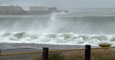 Hurricane Storm Surge Inundates Port Area