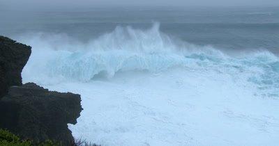 Huge Hurricane Waves Crash Ashore