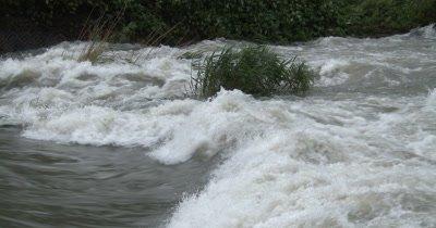 River Flooding During Hurricane Heavy Rain