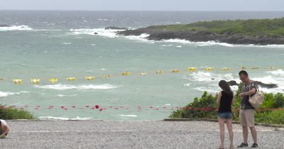 Beach Access Closed Due To Rough Sea Ahead Of Powerful Storm
