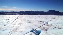 Low Aerial Over Glacier