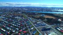 Aerial Over City Of Reykjavik