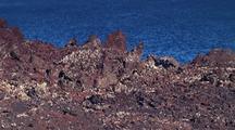 Westman Islands Rugged Volcanic Landscape Showing Ocean