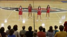 Cheerleaders Do Dance Routine In Front Of Cheering Fans
