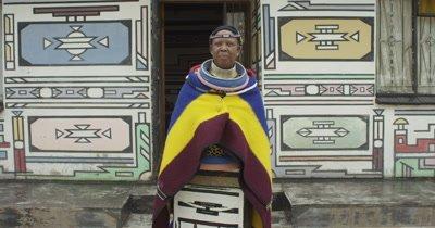Ndebele Woman Walking