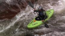 Tracking A Kayaker Paddling A Waterfall.