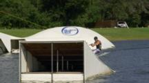 Tracking A Wakeboarder Doing A Flip Off A Jump.