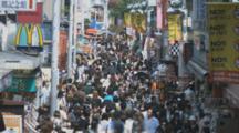 Time Lapse Pedestrians On Busy Tokyo Sidewalk