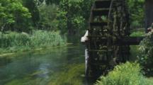 Waterwheel Next To Flowing Stream, Daio Japanese Horseradish Farm