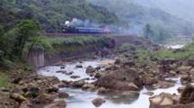 Locomotive Moving In Pingxi, Taiwan