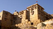 Looking Up At Jaisalmer Fort In India