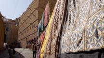 Colorful Cloth Hanging On Clothesline In India