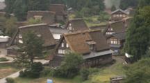 Thatched Roof Houses In Toyama, Japan