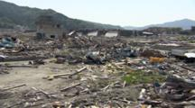 Devastated Area By Tsunami In Japan