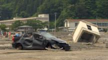 Car Crashed By Tsunami In Japan