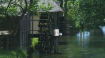 Waterwheel In Azumino, Japan