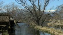 Wasabi Farm Water Wheel On Stream
