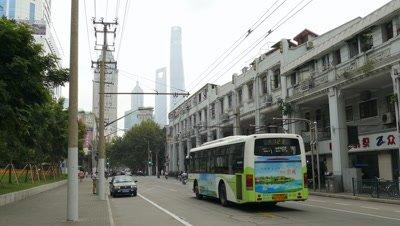 Vehicle Running on Road, Shanghai, China
