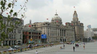 Street View on Shanghai Bund, China