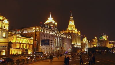 The Shanghai Bund at Night, China