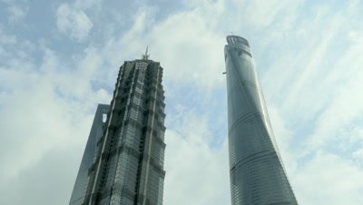 High-rise Building at the Pudong New Area, Shanghai, China