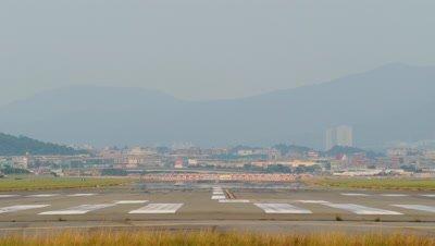 Airplane Landing, Taipei, Taiwan