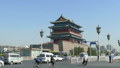 Zhengyangmen on Qianmen Street, Beijing, China
