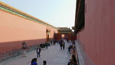 Passage in the Forbidden City, Beijing, China